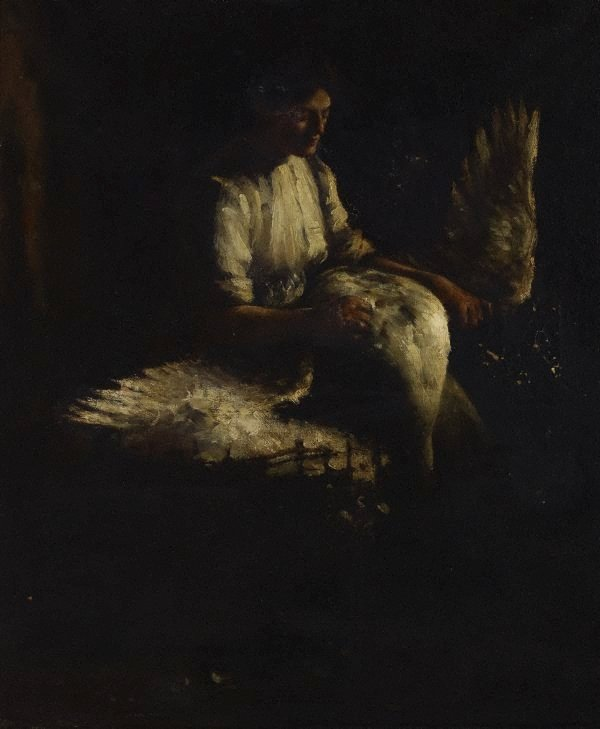 An image of Plucking geese