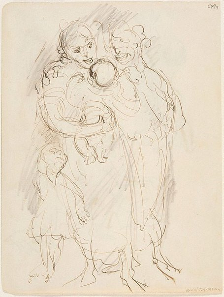 An image of (Mothers with babies) (Early Sydney period) by William Dobell