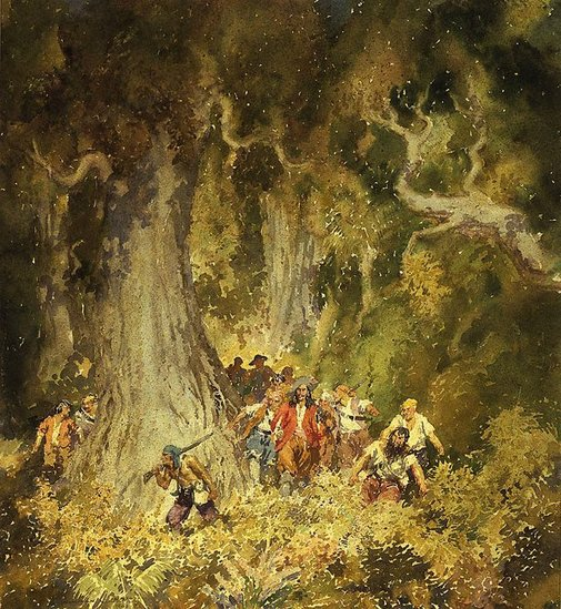 An image of Through the savannahs by Norman Lindsay
