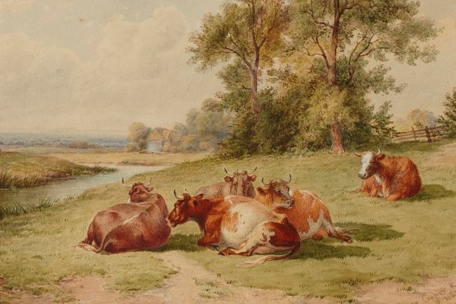 An image of Landscape with cattle