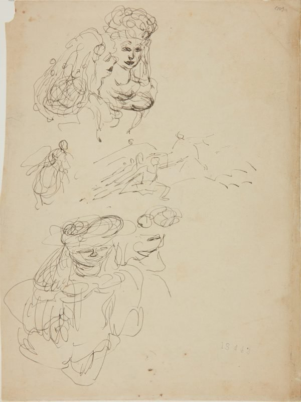 An image of (Studies of two women) (Early Sydney period)