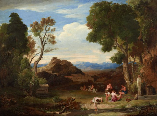 AGNSW collection Sir Charles Lock Eastlake An antique rural scene (1823-1824) 7262