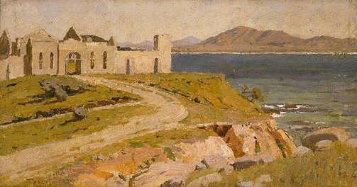 An image of Old Trial Bay Gaol by Percy Lindsay