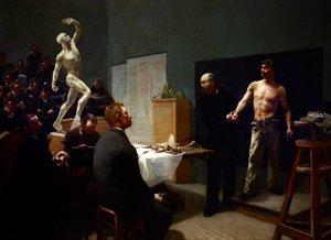 The anatomy class at the École des beaux-arts, (1888) by François Sallé