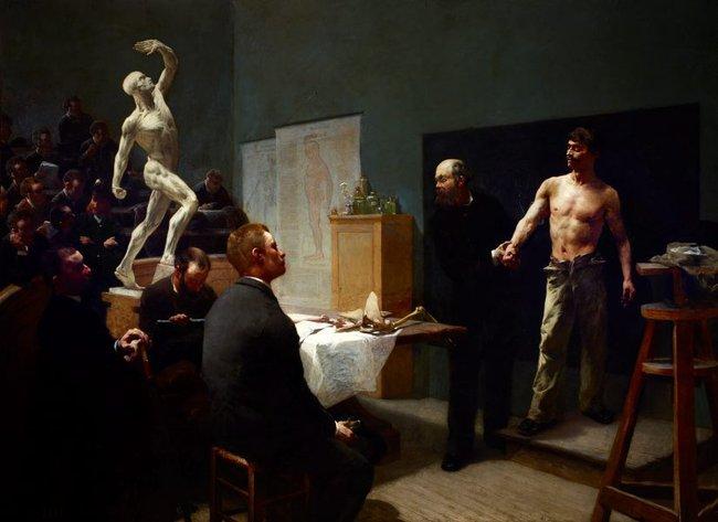AGNSW collection François Sallé The anatomy class at the École des beaux-arts (1888) 728