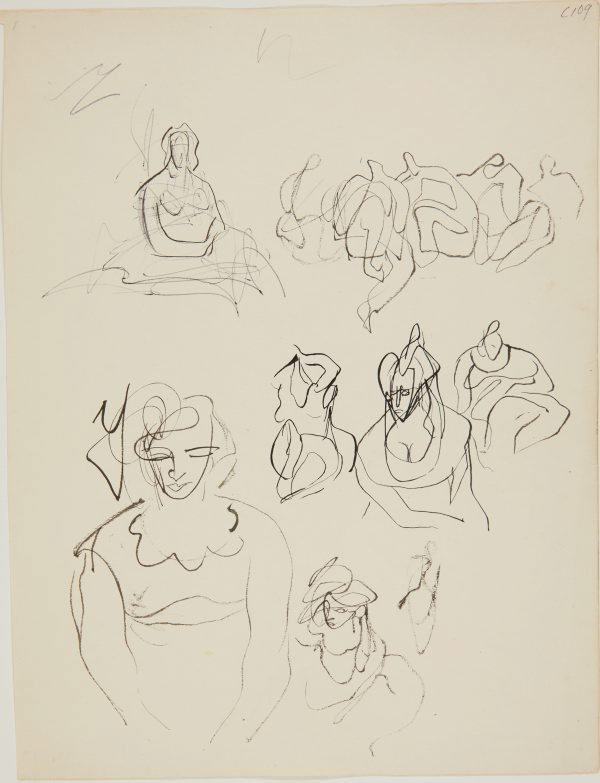 An image of (Female figure studies) (Early Sydney period)