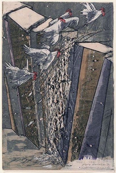An image of Flying character (B) by Kawachi Seikô