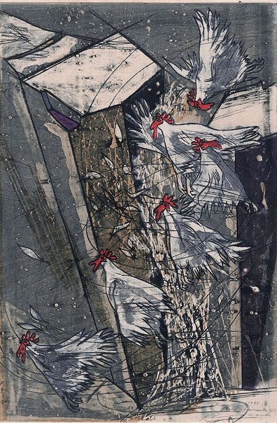 An image of Flying character (C) by Kawachi Seikô