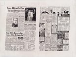 Alternate image of The New York Daily News on the day before the Stonewall Riot copied by hand from microfilm records by Mathew Jones