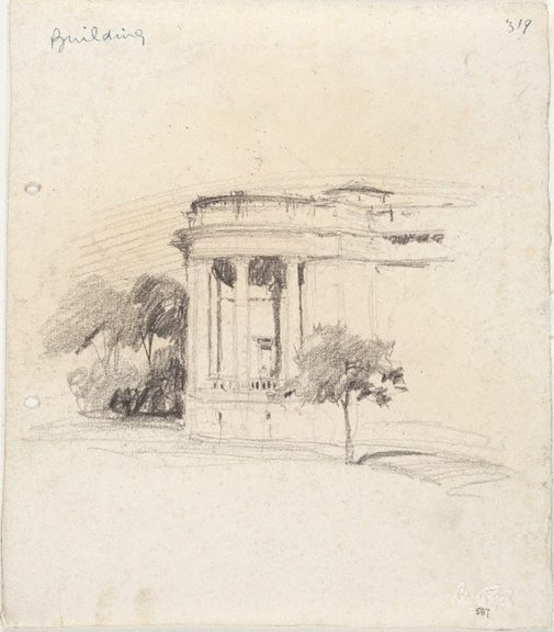 An image of recto: Art Gallery of New South Wales verso: Obelisk in Macquarie Place and Study for Art Gallery of New South Wales by Lloyd Rees
