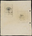 Alternate image of recto: Art Gallery of New South Wales verso: Obelisk in Macquarie Place and Study for Art Gallery of New South Wales by Lloyd Rees