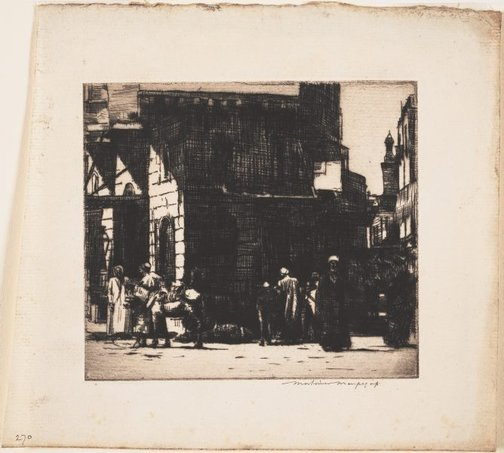 An image of A street in Bulac, Egypt by Mortimer L Menpes