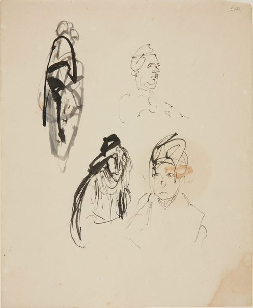 An image of (Head studies) (Early Sydney period) by William Dobell