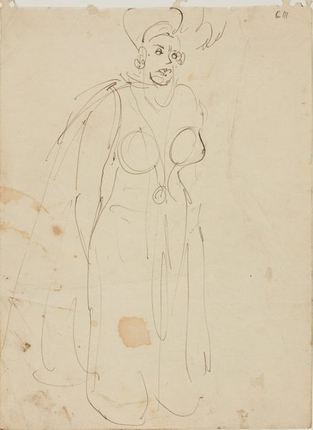 An image of (Female figure study) (Early Sydney period) by William Dobell