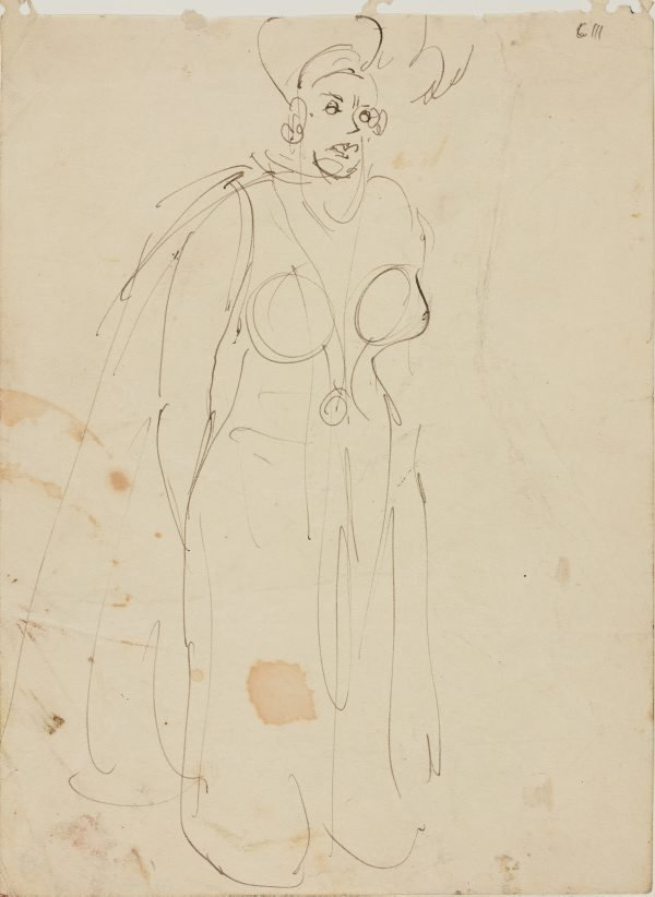 An image of (Female figure study) (Early Sydney period)