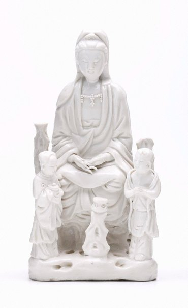 An image of Guanyin with two attendants by