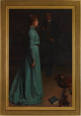 Alternate image of A lady in blue by Hugh Ramsay
