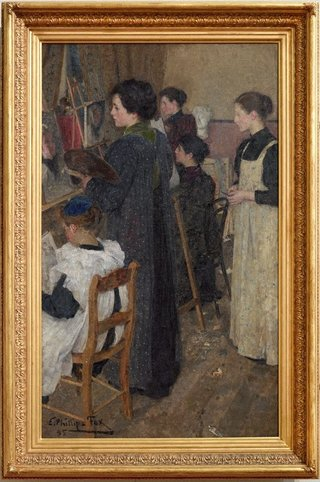 AGNSW collection E Phillips Fox Art students (1895) 7319