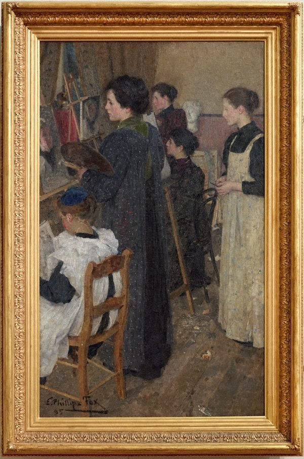 Art students, (1895) by E Phillips Fox