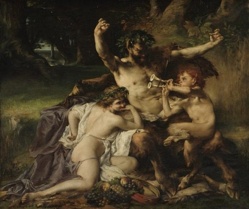 An image of Satyr's family by Louis Priou