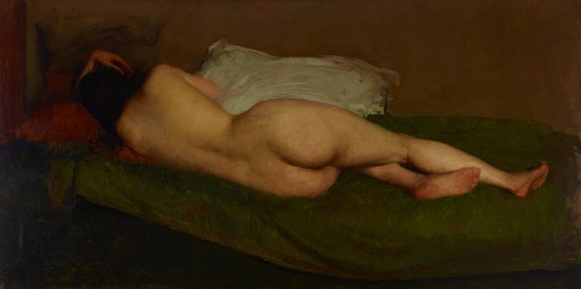 An image of Nude reclining