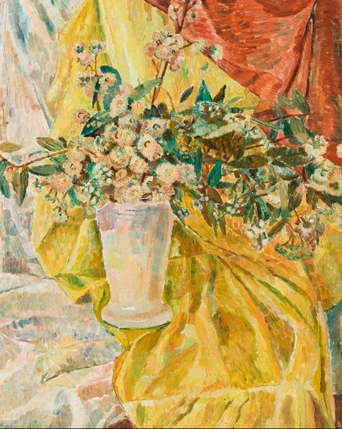 An image of Gum blossoms by Grace Cossington Smith
