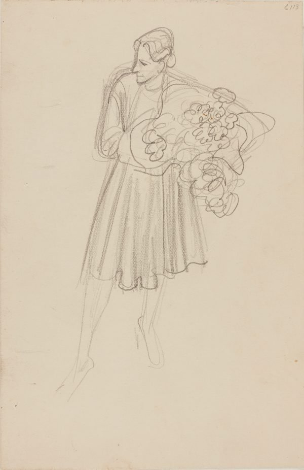 An image of (Woman with flowers) (Early Sydney period)