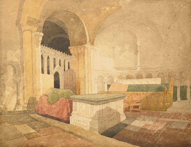 An image of The Jesus Chapel, Norwich Cathedral with the tomb of Sir Thomas Windham