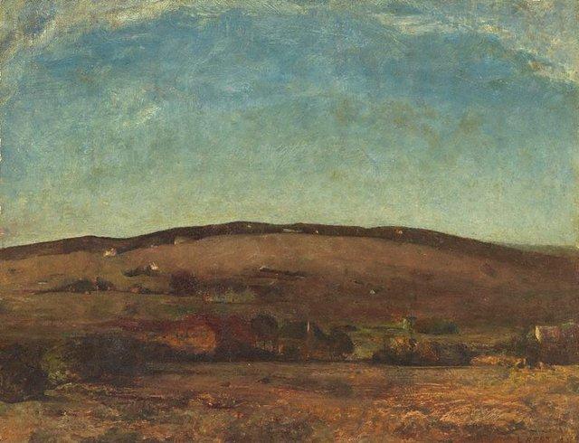 An image of Evening landscape, Orange