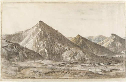 An image of The Three Sisters, Aroona by Hans Heysen