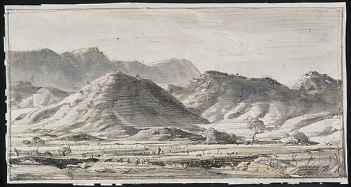 An image of Mt. Bryan, mid north by Hans Heysen