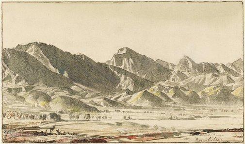 An image of The Flinders Range at Parachilna by Hans Heysen