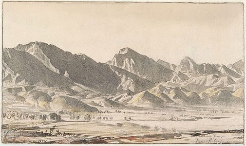 An image of The Flinders Range at Parachilna by Hans Heysen