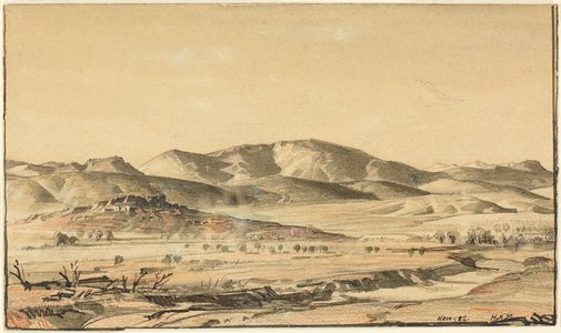 An image of The Druid's Range, Hawker by Hans Heysen