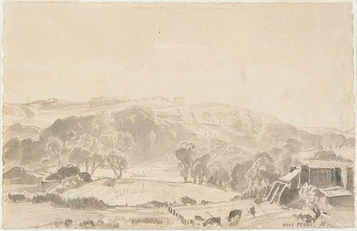 An image of Frosty morning, Mt. Barker by Hans Heysen