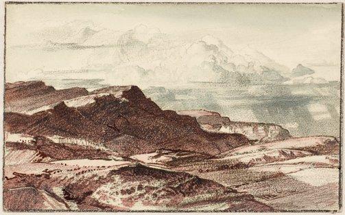 An image of Arkaba landscape, far north by Hans Heysen