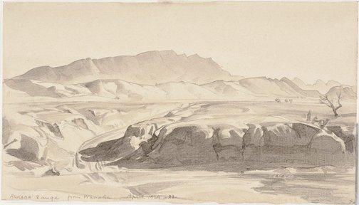 An image of Arkaba Range from Wanaka by Hans Heysen