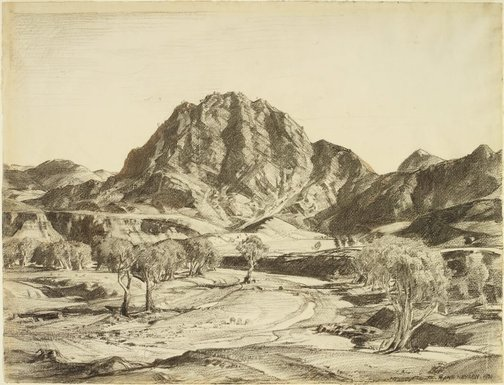 An image of The Guardian, Brachina Gorge by Hans Heysen