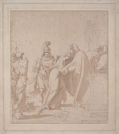 An image of Chryseis restored to her father by Benjamin West
