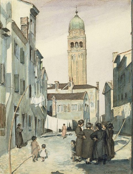 An image of Street in Chioggia by J. Noel Kilgour