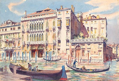 An image of Titian's Palace, Venice by Lionel Lindsay