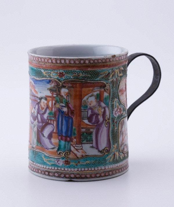 An image of Mug with metal handle