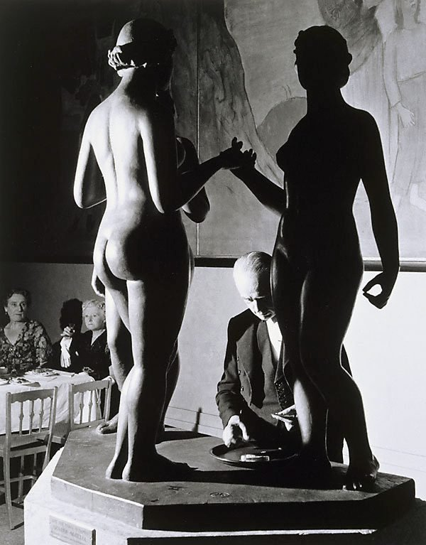 An image of Tate Gallery, Epstein Retrospective, waiter and statue