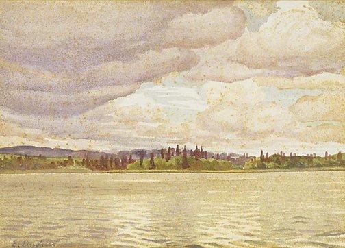 An image of Riverscape by Ernest Lindner