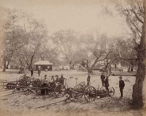 An image of On Toorale Station, Darling River by Charles Bayliss