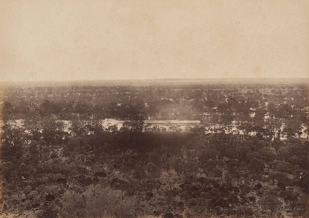 An image of View from Dunlop Range, near Louth, Darling River (looking west)