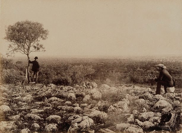 An image of View from Dunlop Range, near Louth, Darling River (looking south)
