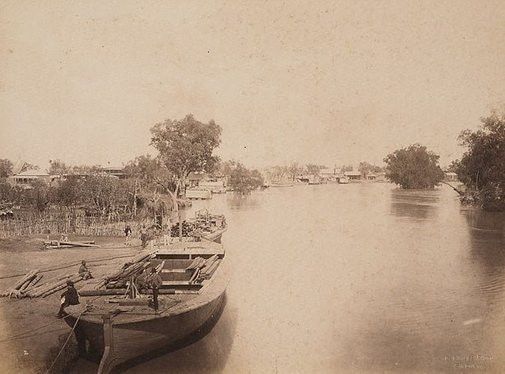 An image of Bourke (looking downstream) by Charles Bayliss