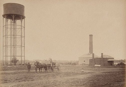 An image of Waterworks, Wilcannia by Charles Bayliss