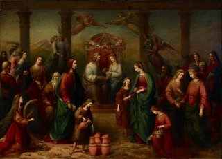 The marriage at Cana of Galilee, (1861, reworked 1863) by Adelaide Ironside